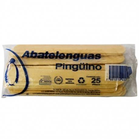 ABATELENGUAS MADERA PINGUINO C/25 - Envío Gratuito