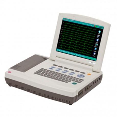 Electrocardiógrafo Carewell de12 Canales con Interpretación y Pantalla Despegable - Envío Gratuito