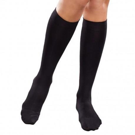 Calcetín Therafirm Mediana Compresión (15-20 mmHg) Dama Modelo Sheer Color Negro Talla Grande - Envío Gratuito