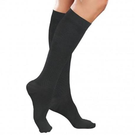 Calcetín Therafirm Alta Compresión (20-30 mmHg) Dama Modelo Sheer Color Negro Talla Mediana - Envío Gratuito