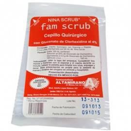 Cepillo Quirúrgico Altamirano Fam Scrub con Nina Scrub (Clorhexidina) - Envío Gratuito