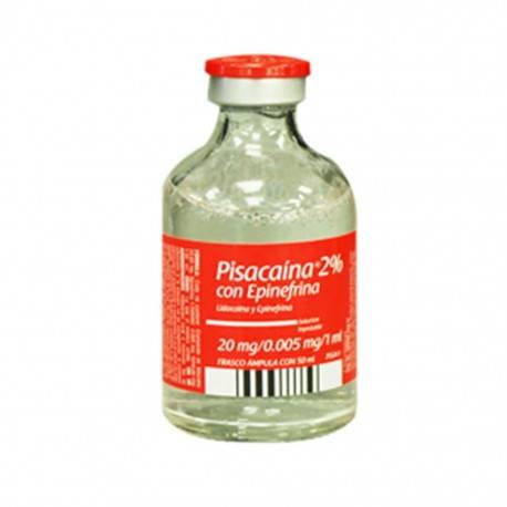 PISACAINA 2 porciento C/EPINEFRINA 50ml - Envío Gratuito