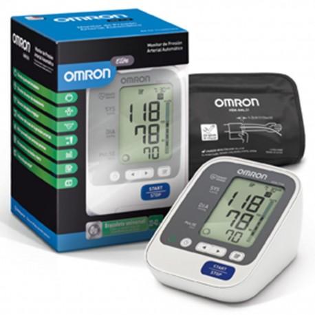 Baumanómetro Digital de Brazo Omron con Sensor de Posición, Brazalete de 3 Posiciones y 60 Memorias - Envío Gratuito